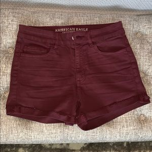 American Eagle purple high waist shorts. 4